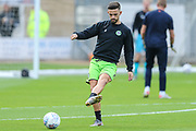 Forest Green Rovers Liam Shephard(2) warming up during the EFL Sky Bet League 2 match between Cambridge United and Forest Green Rovers at the Cambs Glass Stadium, Cambridge, England on 7 September 2019.