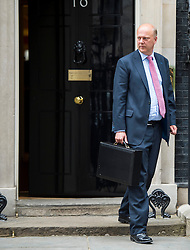 © Licensed to London News Pictures. 02/06/2015. Westminster, UK. Leader of the House of Commons CHRIS GRAYLING leaving Number 10 Downing Street in London following a cabinet meeting. Photo credit: Ben Cawthra/LNP