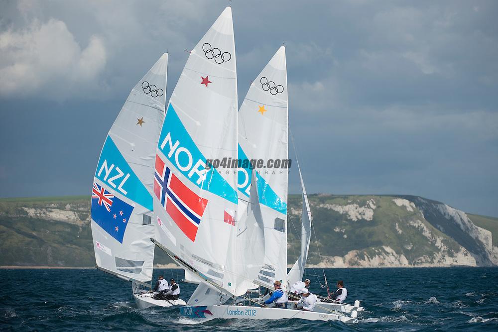 2012 Olympic Games London / Weymouth<br /> <br /> Star practice race<br /> StarNORMelleby Eivind, PEDERSEN Petter Morland<br /> StarNZLPepper Hamish, Turner Jim