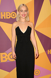 Emilia Clarke at the HBO's 2018 Official Golden Globe Awards After Party held at the Circa 55 Restaurant in Beverly Hills, USA on January 7, 2018.
