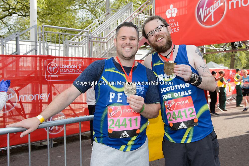 Scouting for Girls. The Virgin Money London Marathon, 23rd April 2017.<br /> <br /> Photo: Joanne Davidson for Virgin Money London Marathon<br /> <br /> For further information: media@londonmarathonevents.co.uk
