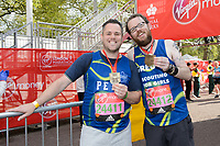 Scouting for Girls. The Virgin Money London Marathon, 23rd April 2017.<br /> <br /> Photo: Joanne Davidson for Virgin Money London Marathon<br /> <br /> For further information: media@londonmarathonevents.co.uk