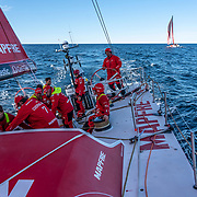 Leg 11, from Gothenburg to The Hague, day 03 on board MAPFRE, crossing with Dongfeng while rounding the last Norway's  mark . 23 June, 2018.