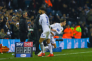 Jamie Shackleton of Leeds United (46) replaces Tyler Roberts of Leeds United (11) during the EFL Sky Bet Championship match between Leeds United and West Bromwich Albion at Elland Road, Leeds, England on 1 March 2019.