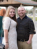 Katie Richmond and Ty Livingston at their rehearsal for their wedding on January 20, 2018 in Jupiter, Florida.