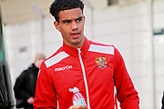Stevenage defender Terence Vancooten (20) arrives at the ground before the EFL Sky Bet League 2 match between Notts County and Stevenage at Meadow Lane, Nottingham, England on 24 February 2018. Picture by Nigel Cole.