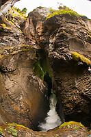 Trummelbach Waterfalls in the Lauterbrunnen Valley, Canton Bern, Switzerland