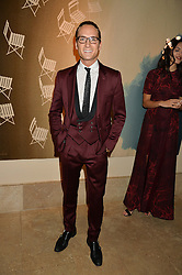 OLIVER PROUDLOCK at a private view of the Beulah Winter Autumn Winter collection entitled 'Chrysalis' held at The South Kensington Club, London SW7 on 24th September 2015.