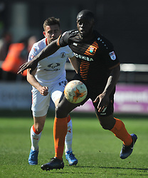 BARNETS JOHN AKINDE, Barnet v Luton Town EFL Sky Bet League 2 The Hive, Saturday 8th April 2017, Score 0-1<br /> Photo:Mike Capps
