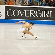 Angela Wang competes in the championship ladies short program at the 2014 US Figure Skating Championships at TD Garden in Boston, MA, on January 9, 2014.