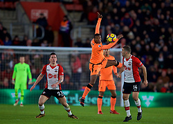 SOUTHAMPTON, ENGLAND - Sunday, February 11, 2018: Liverpool's Georginio Wijnaldum during the FA Premier League match between Southampton FC and Liverpool FC at St. Mary's Stadium. (Pic by David Rawcliffe/Propaganda)