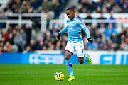 Raheem Sterling (#7) of Manchester City on the ball during the Premier League match between Newcastle United and Manchester City at St. James's Park, Newcastle, England on 30 November 2019.