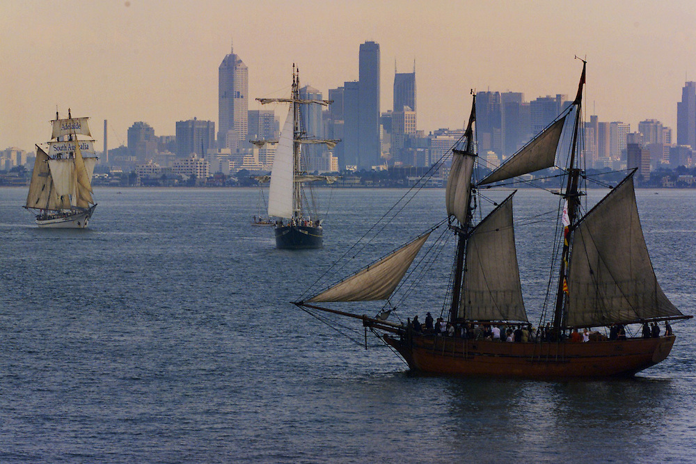 csz010126.001.001.jpg. Digicam000. Tall ships gather as the Australia Day yacht racing takes place on the bay. Pic By Craig Sillitoe melbourne photographers, commercial photographers, industrial photographers, corporate photographer, architectural photographers, This photograph can be used for non commercial uses with attribution. Credit: Craig Sillitoe Photography / http://www.csillitoe.com<br />