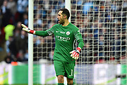 Claudio Bravo (1) of Manchester City during the EFL Cup Final match between Arsenal and Manchester City at Wembley Stadium, London, England on 25 February 2018. Picture by Graham Hunt.