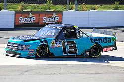 March 23, 2019 - Martinsville, VA, U.S. - MARTINSVILLE, VA - MARCH 23:  #13: Johnny Sauter, ThorSport Racing, Ford F-150 Tenda Heal during qualifying for the NASCAR Gander Outdoors Truck Series TruNorth Global 250 race on March 23, 2019 at the Martinsville Speedway in Martinsville, VA.  (Photo by David J. Griffin/Icon Sportswire) (Credit Image: © David J. Griffin/Icon SMI via ZUMA Press)