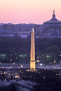 France. Paris. elevated view. Concord square, obelisk