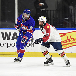 BUFFALO, NY - SEP 20,  2017: Ontario Junior Hockey League Governors Showcase game between the Toronto Jr. Canadiens and Wellington Dukes, <br /> (Photo by Andy Corneau / OJHL Images)