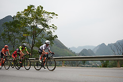 Ashleigh Moolman Pasio (RSA) sets the pace at GREE Tour of Guangxi Women's WorldTour 2019 a 145.8 km road race in Guilin, China on October 22, 2019. Photo by Sean Robinson/velofocus.com