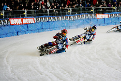 13.03.2016, Assen, BEL, FIM Eisspeedway Gladiators, Assen, im Bild Dmitry Khomitsevich (RUS), Daniil Ivanov (RUS) // during the Astana Expo FIM Ice Speedway Gladiators World Championship in Assen, Belgium on 2016/03/13. EXPA Pictures &copy; 2016, PhotoCredit: EXPA/ Eibner-Pressefoto/ Stiefel<br /> <br /> *****ATTENTION - OUT of GER*****