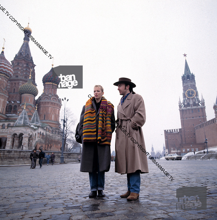 The Edge from U2 and Annie Lennox in Red Square Moscow | urbanimage tv