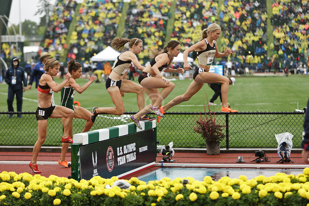 Olympic Trials Eugene 2012: Emma Coburn leads womens steeplechase