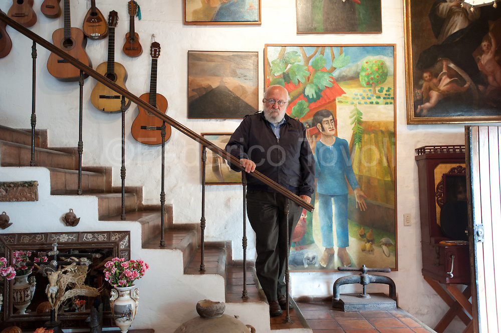 Barranco, resident arrtists. Painter Aleyandro Alayza at home.