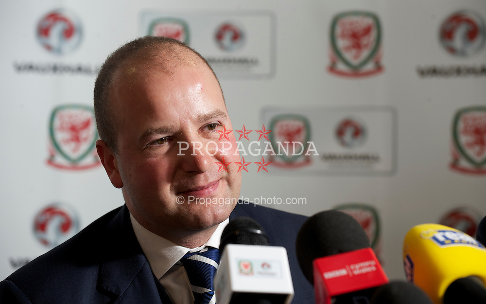 CARDIFF, WALES - Wednesday, January 12, 2011: Wales' Chief-Executive Jonathan Ford during a press conference to announce that British car manufacturer Vauxhall is to become the official leading sponsorship partner to the Wales international football teams, at Cardiff City Stadium. (Pic by: David Rawcliffe/Propaganda)