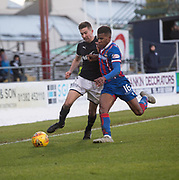 20th January 2018, Dens Park, Dundee, Scotland; Scottish Cup fourth round, Dundee versus Inverness Caledonian Thistle; Dundee's Cammy Kerr battles for the ball with Inverness Caledonian Thistle's Riccardo Calder