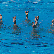 The Great Britain team during the Synchronised swimming team event at the World Swimming Championships in Rome on Saturday, July 25, 2009. Photo Tim Clayton.