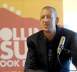 Historian and Author Diarmuid Ferriter discussing his latest publication 'On the Edge Ireland's Off Shore Islands' during the Rolling Sun Book festival event at The Clew Bay Hotel. Pic Conor McKeown
