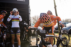 Nikki Harris prepares to make her road debut for Boels Dolmans - 2016 Omloop het Nieuwsblad - Elite Women, a 124km road race from Vlaams Wielercentrum Eddy Merckx to Ghent on February 27, 2016 in East Flanders, Belgium.