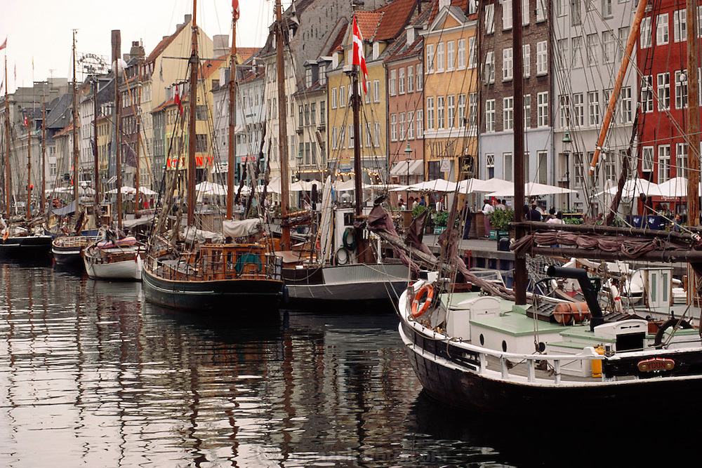 Nyhavn canal area. Copenhagen, Denmark.