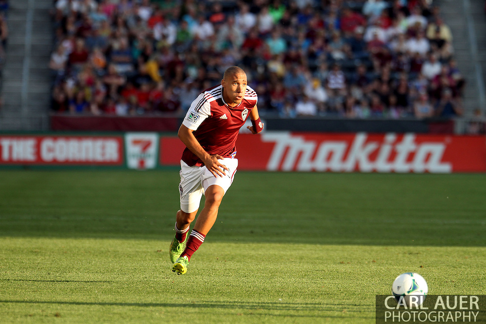 June 15th, 2013 - Colorado Rapids defender Chris Klute (15) chases down the ball in the first half of action in the MLS match between San Jose Earthquake and the Colorado Rapids at Dick's Sporting Goods Park in Commerce City, CO