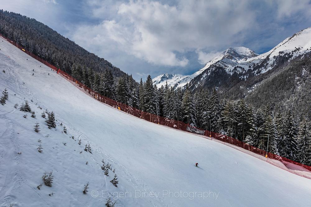 Ski run in Bulgarian ski resort Bansko