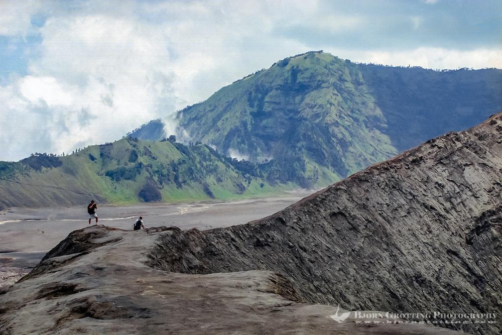 Java, East Java, Mount Bromo. Gunung Bromo. At the crater edge.