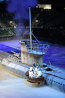 Re-enactment of the recovery of the Enigma codebooks, British Military Tournament Dress Rehearsal, Earls Court, London UK, 06 December 2013, Photo by Richard Goldschmidt