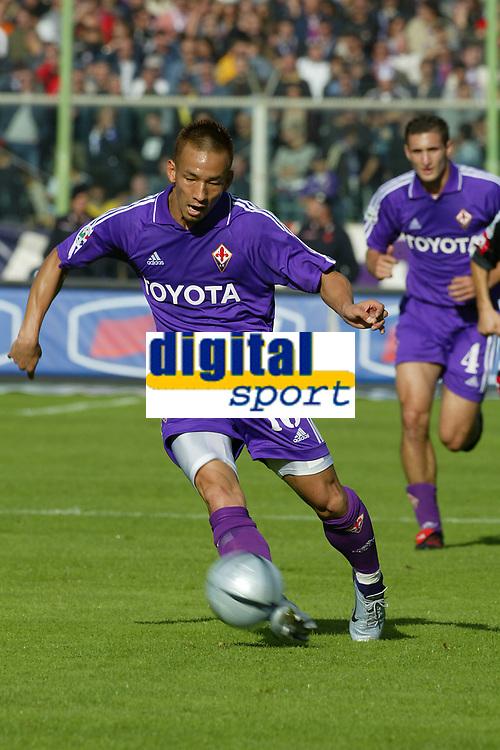 Firenze 17-10-2004<br /> <br /> Campionato  Serie A Tim 2004-2005<br /> <br /> Fiorentina siena<br /> <br /> nella  foto Hidetoshi Nakata Fiorentina<br /> <br /> Foto Snapshot / Graffiti