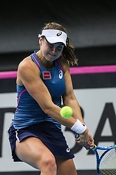 February 7, 2019 - Zielona Gora, Poland - Rebecca Peterson (SWE) during Tennis 2019 Fed Cup by Paribas Europe/Africa Zone Group 1  match between Sweden and Estonia in Zielona Gora, Poland, on February 7, 2019. (Credit Image: © Foto Olimpik/NurPhoto via ZUMA Press)