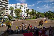 Palais des Festivals et des Congrès, (Hall of the Cannes film festival) Promenade de la Croisette, Cannes, Côte d'Azur, Provence-Alpes-Côte d'Azur, France