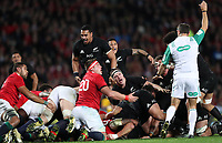 Rugby Union - 2017 British & Irish Lions Tour of New Zealand - Third Test: New Zealand vs. British & Irish Lions<br /> <br /> Roman Poite referee gives a penalty then changes his mind  at Eden Park.<br /> <br /> COLORSPORT/LYNNE CAMERON