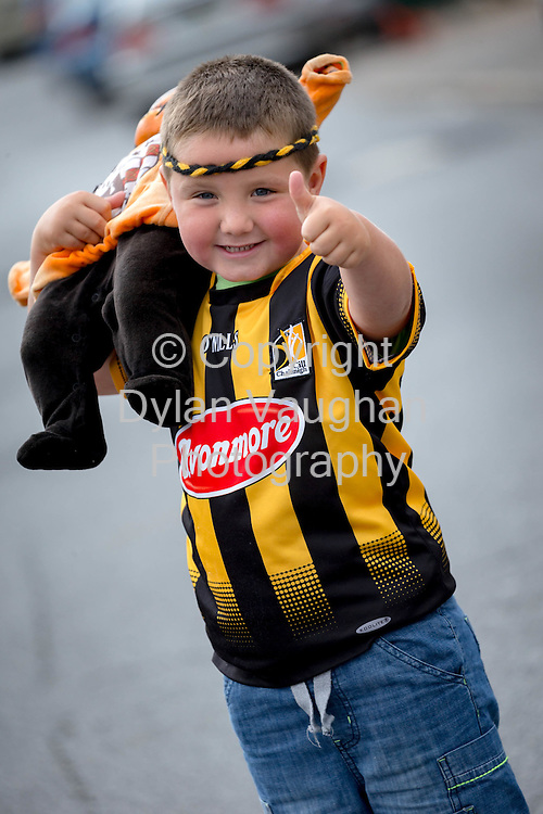 03-9-15<br /> <br /> Rhys Duggan Quirke aged 6 from Kilkenny pictured ahead of this weekends All Ireland Senior Hurling Final between Kilkenny and Galway.<br /> Picture Dylan Vaughan.