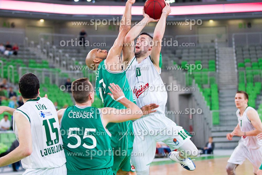 Mitja Nikolic #10 of KK Union Olimpija during basketball match between KK Union Olimpija and KK Zlatorog Lasko in semi-final of Nova KBM Champions League 2015/16, on May 23, 2016 in SRC Stozice, Ljubljana, Slovenia. Photo by Urban Urbanc / Sportida