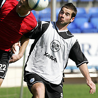 St Johnstone Training...27.04.07<br />Peter MacDonald battles with Derek Lilley during training this morning before tomorrow's first division title clinc game against Hamilton.<br />see story by Gordon Bannerman Tel: 01738 553978 or 07729 865788<br />Picture by Graeme Hart.<br />Copyright Perthshire Picture Agency<br />Tel: 01738 623350  Mobile: 07990 594431