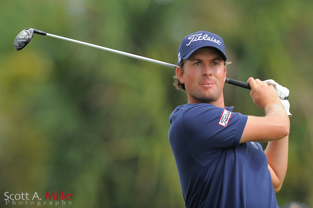 Webb Simpson during the first round of the World Golf Championship Cadillac Championship on the TPC Blue Monster Course at Doral Golf Resort And Spa on March 8, 2012 in Doral, Fla. ..©2012 Scott A. Miller.