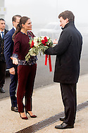 17-12-2016 MILAN ITALY - Princess Victoria and Prince Daniel visit THE RESEARCH HOSPITAL SAN RAFFAELE The Crown Princess Couple's Princess Victoria and Prince Daniel visit to Rome and Milan, Italy, December 15-17  COPYRIGHT ROBIN UTRECHT