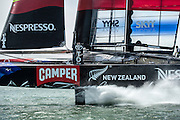Emirates Team New Zealand practice and testing with the AC72, NZL5 in San francisco. 6/6/2013