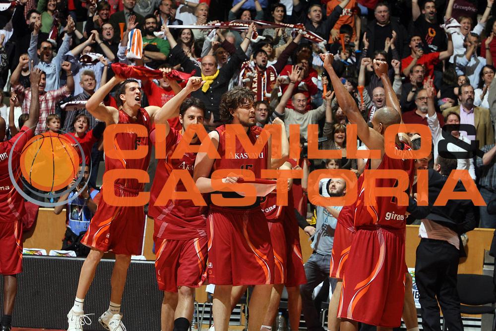 DESCRIZIONE : Girona EuroCup Final Four 2007 Finale Azovmash Mariupol Akasvayu Girona<br /> GIOCATORE : <br /> SQUADRA : Akasvayu Girona<br /> EVENTO : EuroCup Final Four 2007 <br /> GARA : Girona EuroCup Final Four 2007 Finale Azovmash Mariupol Akasvayu Girona<br /> DATA : 15/04/2007 <br /> CATEGORIA : Esultanza<br /> SPORT : Pallacanestro <br /> AUTORE : Agenzia Ciamillo-Castoria/E.Castoria<br /> Galleria : Fiba Eurocup 2006-2007 <br /> Fotonotizia : Girona EuroCup Final Four 2007 Finale Azovmash Mariupol Akasvayu Girona<br /> Predefinita :