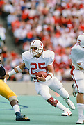 COLLEGE FOOTBALL: Stanford v Cal, Nov ?, 1984 or 1986 at Memorial Stadium in Berkeley, California.  Brad Muster #25.