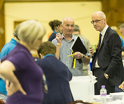 The count for the UK Parliamentary General Election 2017 for the Perth & North Perthshire Constituency takes place at Bell's Sports Centre in Perth.<br /> <br /> The four candidates standing for the seat are Peter Barrett (Scottish Liberal Democrats), Ian Duncan (Scottish Conservatives), David Roemmele (Scottish Labour) and Pete Wishart (SNP)<br /> <br /> Pictured: John Swinney MP assessing the count at Perth and North Perthshire