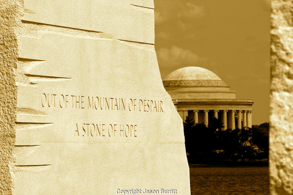 Martin Luther King, Jr Memorial With View of The Jefferson Memorial in Washington DC